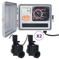 vidaXL Zavlažovací počítač se 4 elektromagnetickými ventily