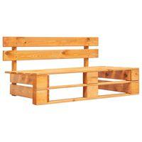 vidaXL Zahradní lavice z palet dřevo medově hnědá