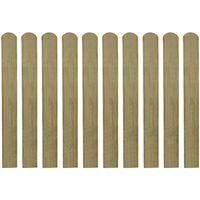 vidaXL 20 ks impregnované plotovky dřevo 80 cm
