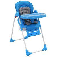 vidaXL Dětská jídelní židlička modro-šedá