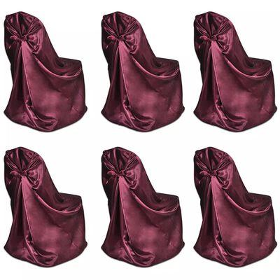 6 ks vínových potahů na židle na svatby / bankety