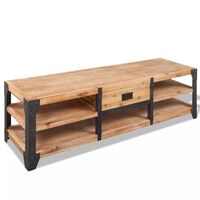 vidaXL TV stolek z masivního akáciového dřeva 140x40x45 cm