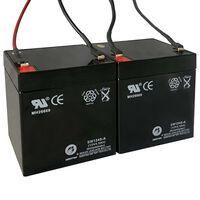 Náhradní baterie pro elektrické koloběžky 2 ks 12 V 4,5 Ah