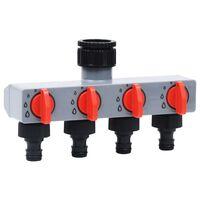 vidaXL Zahradní 4cestný ventil pro zavlažovací hodiny