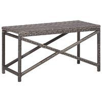 vidaXL Zahradní lavice 80 cm polyratan šedá