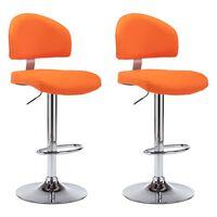 vidaXL Barové stoličky 2 ks oranžové umělá kůže