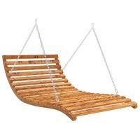 vidaXL Houpací postel smrkové dřevo s teakovou úpravou 143x120x65 cm