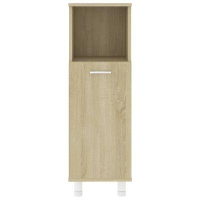 vidaXL Koupelnová skříňka dub sonoma 30 x 30 x 95 cm dřevotříska