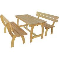 vidaXL Pivní stůl se 2 lavicemi impregnované borové dřevo