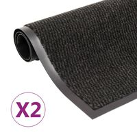vidaXL Protiprachové rohožky 2 ks obdélník všívané 120 x 180 cm černé