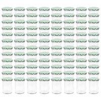 vidaXL Zavařovací sklenice se zelenobílými víčky 96 ks 400 ml