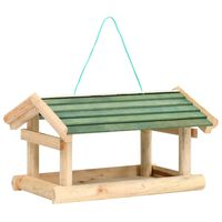 vidaXL Bird Feeder Solid Wood 35x29,5x21 cm