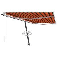 vidaXL Volně stojící automatická markýza 400 x 300 cm oranžovo-hnědá
