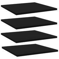 vidaXL Přídavné police 4 ks černé 40 x 40 x 1,5 cm dřevotříska