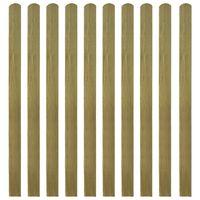 vidaXL Impregnované plotovky 10 ks dřevo 140 cm