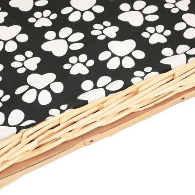 vidaXL Pelíšek pro psy s poduškou 50 x 33 x 35 cm přírodní vrba