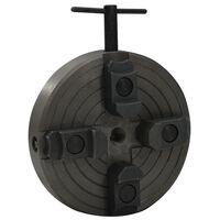 vidaXL 4čelisťové sklíčidlo na dřevo M18 konektor ocel černé 150x63 mm