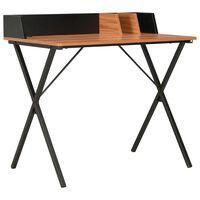 vidaXL Psací stůl černý a hnědý 80 x 50 x 84 cm