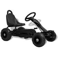 vidaXL Šlapací motokára s pneumatikami černá
