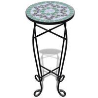 vidaXL Mozaikový odkládací stolek na květiny zelený a bílý