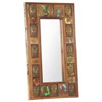 vidaXL Zrcadlo s reliéfy Buddhy 50 x 80 cm masivní recyklované dřevo