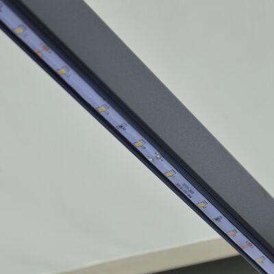 vidaXL Zatahovací markýza senzor větru a LED 600 x 300 cm krémová
