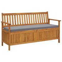 vidaXL Zahradní úložná lavice s poduškou 148 cm masivní akáciové dřevo