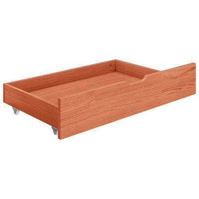vidaXL Rám postele 2 zásuvky medově hnědý masivní borovice 120x200 cm