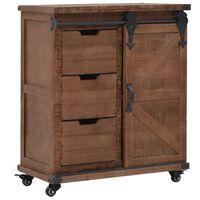vidaXL Úložná skříňka z masivního jedlového dřeva 64x33,5x75 cm hnědá