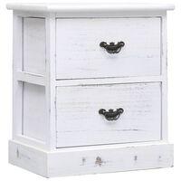 vidaXL Noční stolek bílý 38 x 28 x 45 cm dřevo pavlovnie