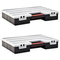 vidaXL Boxy na součástky 2 ks nastavitelné přihrádky 460 x 325 x 80 mm