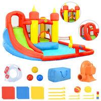 Happy Hop Nafukovací skákadlo, skluzavka a bazének 410x385x220 cm PVC