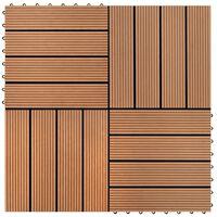 vidaXL 22 ks terasové dlaždice 30 x 30 cm 2 m² WPC hnědé