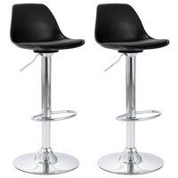 vidaXL Barové židle 2 ks černé umělá kůže