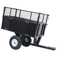 vidaXL Sklápěcí přívěsný vozík za zahradní traktor nosnost 150 kg