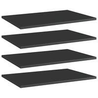 vidaXL Přídavné police 4 ks černé vysoký lesk 60x40x1,5 cm dřevotříska