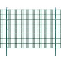 vidaXL 2D Zahradní plotové dílce a sloupky 2008x1630 mm 10 m zelené