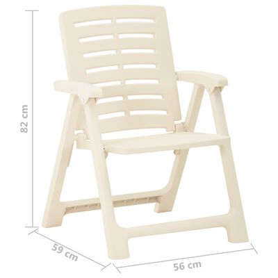 vidaXL Zahradní židle 4 ks plastové bílé