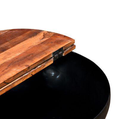 vidaXL Konferenční stolky 2 ks masivní recyklované dřevo černé miska