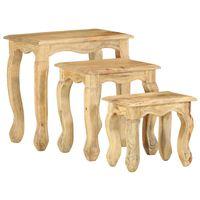 vidaXL 3dílná sada hnízdových stolků masivní akáciové dřevo