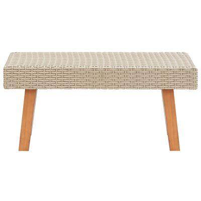 vidaXL Zahradní konferenční stolek polyratan béžový