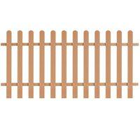 vidaXL Laťkový plot WPC 200 x 100 cm