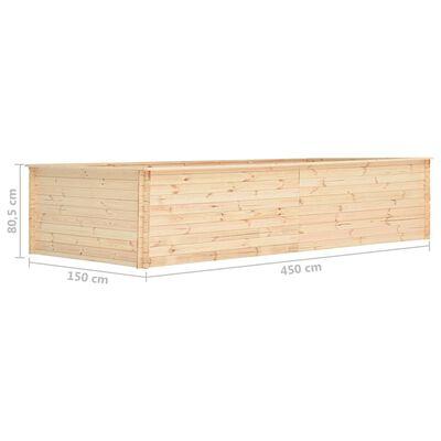 vidaXL Zahradní vyvýšený záhon 450 x 150 x 80,5 cm borovice 19 mm