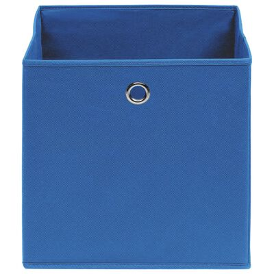 vidaXL Úložné boxy 4 ks modré 32 x 32 x 32 cm textil