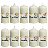 Bolsius Válcové svíčky 10 ks 120 x 58 mm slonovinové