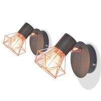 vidaXL Nástěnné lampy 2 ks 2 LED žárovky se žhavicím vláknem 8 W