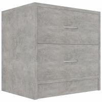 vidaXL Noční stolek betonově šedý 40 x 30 x 40 cm dřevotříska