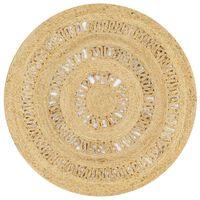 vidaXL Ručně vyrobený koberec ze splétané juty 90 cm
