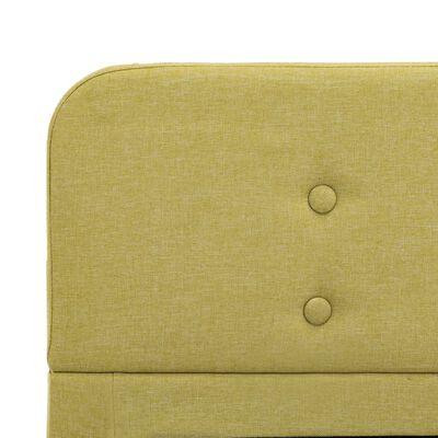 vidaXL Rám postele zelený textil 120 x 200 cm, Green