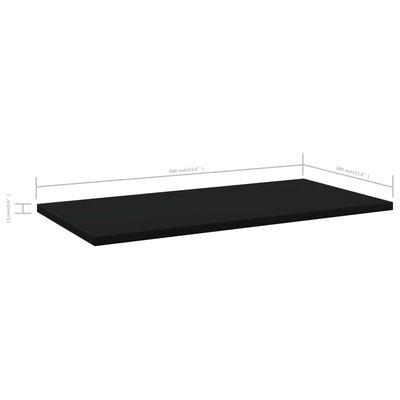 vidaXL Přídavné police 4 ks černé 60 x 30 x 1,5 cm dřevotříska
